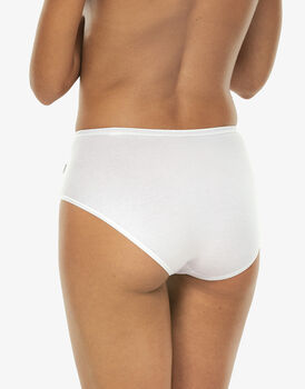Slip midi lovely, bianco in cotone soft, , LOVABLE