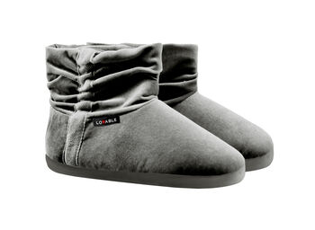 Stivaletto donna in velluto grigio-LOVABLE