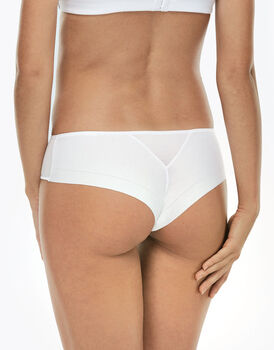 Culotte brasiliano Invisible Cotton bianco in cotone -LOVABLE