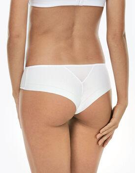 Culotte brasiliano Invisible Cotton bianco in cotone -LOVABLE
