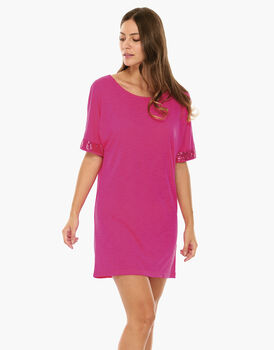 Maxi T-Shirt Geranio in viscosa-LOVABLE