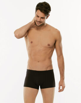 Short boxer 100% Pure Cotton nero in cotone-LOVABLE