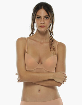 Reggiseno push up Basic Micro, dark skin, , LOVABLE
