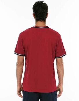 Maglia manica corta bordeaux in jersey di cotone-LOVABLE