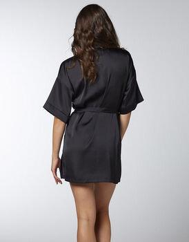 Kimono in satin, nero, , LOVABLE