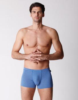 Boxer uomo in micromodal, rigato azzurro, , LOVABLE
