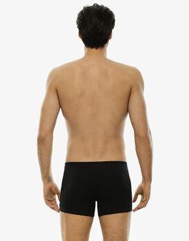 Boxer nero in cotone elasticizzato-LOVABLE