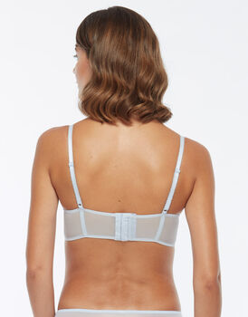 Push up in pizzo e tulle, azzurro, , LOVABLE