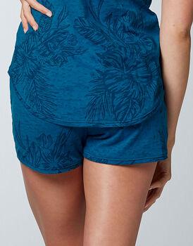 Pantaloncino pigiama Printed Devorè, blu zaffiro, , LOVABLE