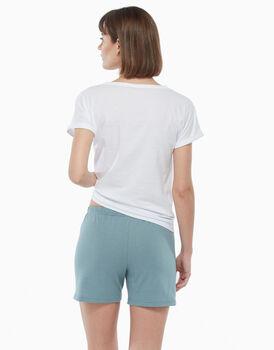 Pigiama corto in jersey di cotone, verde eucalipto, , LOVABLE