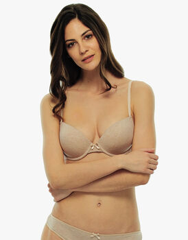 Reggiseno imbottito medio push up Easy Style Basic Cotton, skin melange, in cotone-LOVABLE