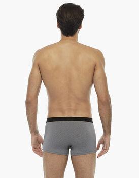 Boxer nero rigato in cotone modal, tinto in filo, disegnatura jacquard , , LOVABLE