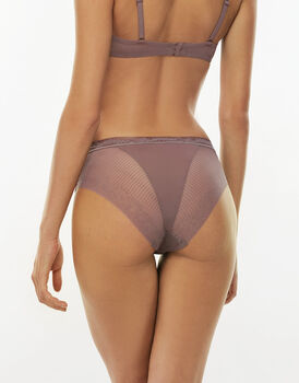 Slip medio Sensual Exclusive Touch visone in pizzo e microfibra-LOVABLE