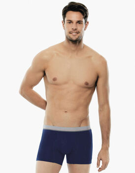 Bipack Boxer Cotton 3D Flex blu in tessuto 3D Flex extra stretch e cotone elasticizzato-LOVABLE