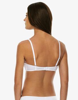 Reggiseno senza ferretto leggermente imbottito a triangolo Easy Style Basic Cotton, bianco, in cotone-LOVABLE