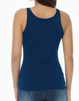 Top in cotone supima, blu, , LOVABLE