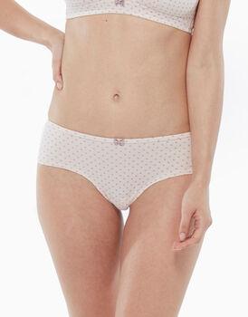 Culotte in cotone elasticizzato, pois rosa, , LOVABLE