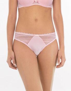 Brasiliano rosa in pizzo elastico e tulle-LOVABLE