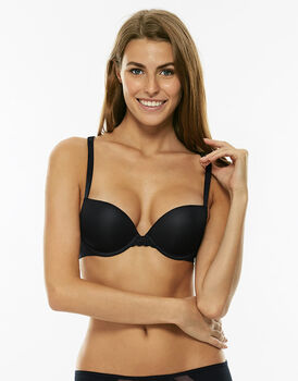 Reggiseno balconette push-up con ferretto, blu notte, in microfibra-LOVABLE