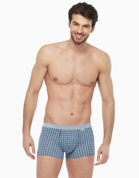 Short Boxer in cotone modal, stampa a quadri, , LOVABLE