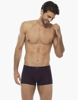 Short boxer bordeaux in cotone supima , , LOVABLE