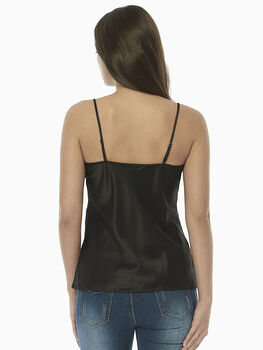 Top in satin, nero, , LOVABLE