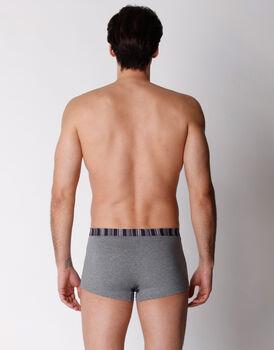 Boxer in cotone elasticizzato, grigio melange, , LOVABLE