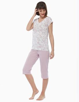 Pigiama in jersey di cotone, rosa malva, , LOVABLE