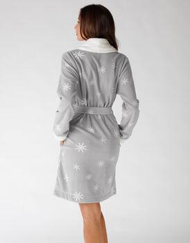 Vestaglia grigio chiaro stampato, , LOVABLE