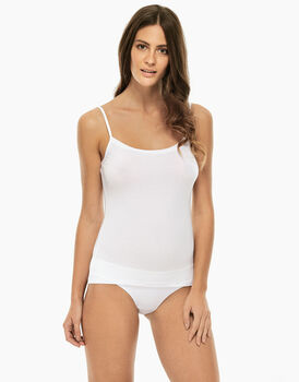 Top Basic Soul liscio bianco in viscosa-LOVABLE