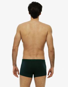 Short boxer righe blu navy e verde cappero in cotone elasticizzato-LOVABLE