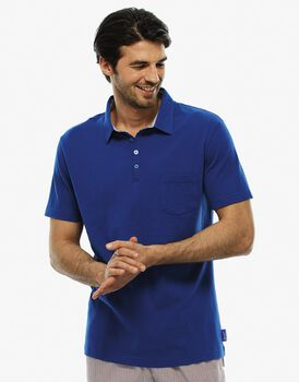 T-shirt manica corta blu royal, in cotone-LOVABLE