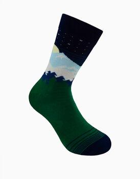Calzini corti crazy socks, fantasia landscape  , , LOVABLE