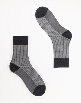 Calzini corti da uomo in viscosa, grigio antracite, , LOVABLE
