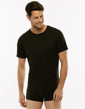 T-shirt girocollo 100% Pure Cotton nera in cotone-LOVABLE
