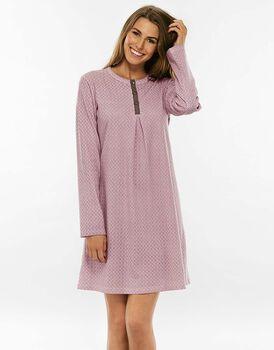 Camicia da notte, visone stampa blush, in interlock-LOVABLE