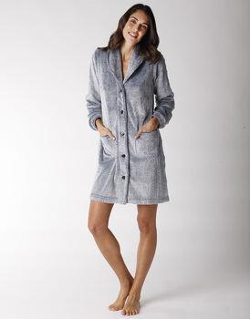 Vestaglia in pelliccetta, grigio blu, , LOVABLE