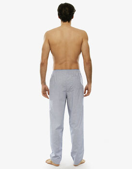 Pantalone lungo denim in tela di cotone con taschino sul retro-LOVABLE