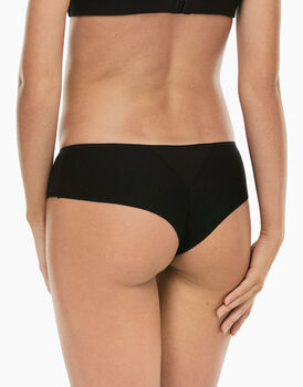 Culotte brasiliano Invisible Cotton nero in cotone-LOVABLE