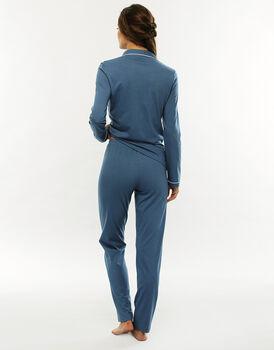 Pigiama manica e gamba lunga, blue jeans, in cotone modal , , LOVABLE