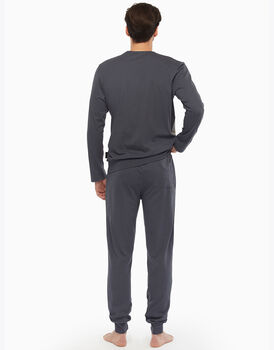 Pigiama in jersey, grigio principe di galles, , LOVABLE