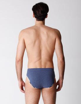 Slip uomo in cotone elasticizzato, jeans melange, , LOVABLE