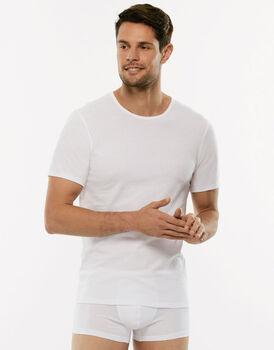 T-shirt girocollo 100% Pure Cotton bianco in cotone-LOVABLE