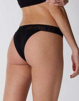 Brasiliano Natural Panties in cotone e modal, nero, , LOVABLE