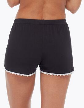 Pantalone corto in viscosa, nero, , LOVABLE