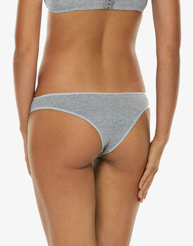 Brasiliano Easy Style Basic Cotton, grigio melange, in cotone-LOVABLE