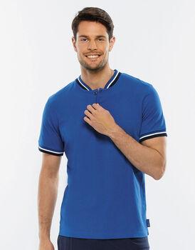 Maglia manica corta blu brillante in jersey di cotone-LOVABLE