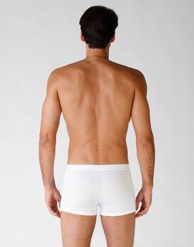 Boxer in cotone elasticizzato, confezione x4 bianco, , LOVABLE