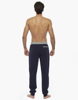 Pantalone lungo, blu notte, in cotone e poliestere, , LOVABLE
