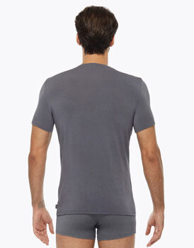 T-shirt Scollo a V in micromodal, grigio scuro, , LOVABLE